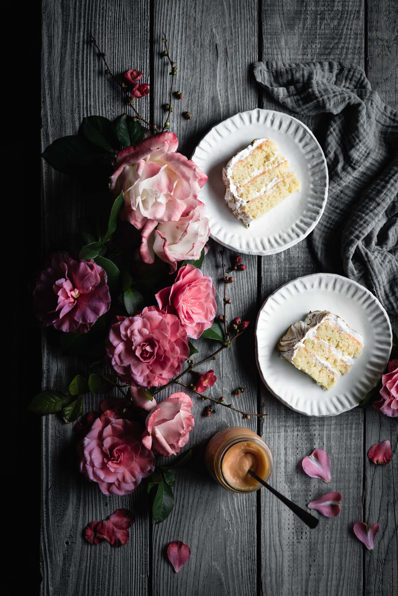 coconut grapefruit meringue cake