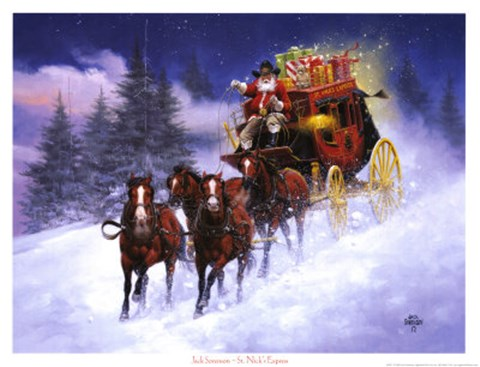 St NickS Express Fine Art Print By Jack Sorenson At