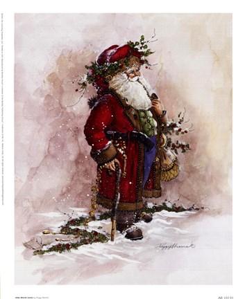 Olde World Santa Fine Art Print By Peggy Abrams At