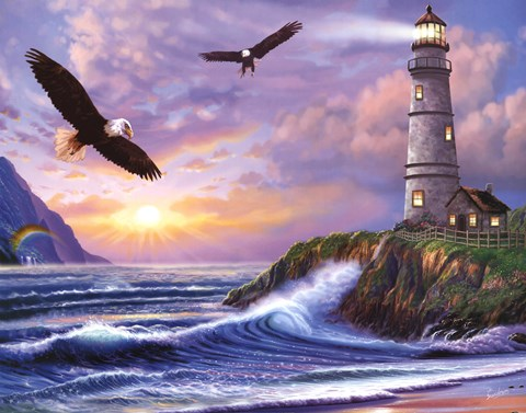 eagle lighthouse fine art print  steve sundram