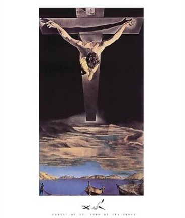Christ Of St John Of The Cross C 1951 Wall Poster By