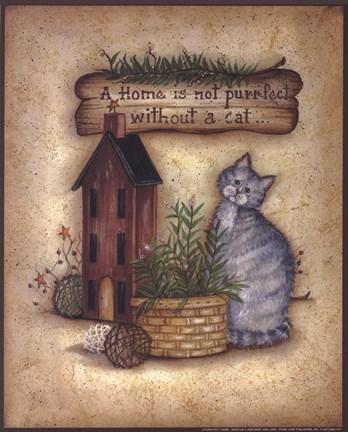 A Purr Fect Home Fine Art Print By Mary Ann June At