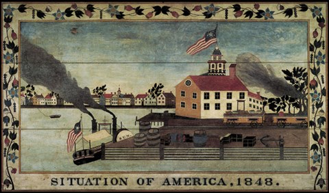 Situation Of America 1848 Fine Art Print By Unknown At