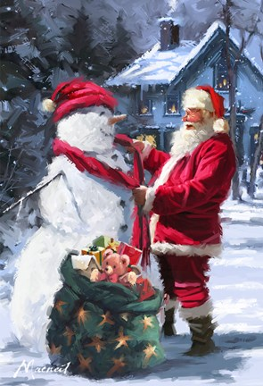 Snowmans Gift Fine Art Print By The Macneil Studio At