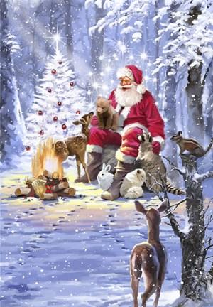 Santas Campfire Fine Art Print By The Macneil Studio At