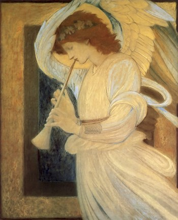 Angel With Shofar Fine Art Print By Vintage Apple