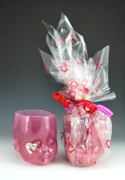 Heart Breaker Gift Wrapped Baby Head Cups