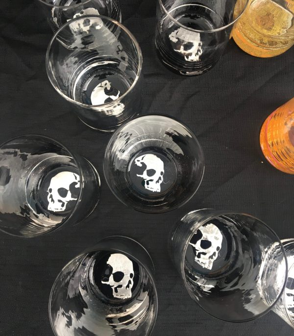 Grouping of Skull Tumblers