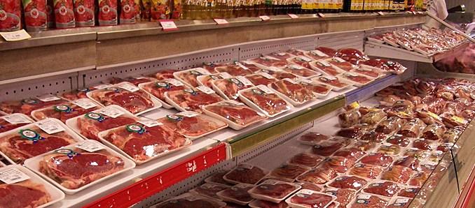 Fleisch verpackt