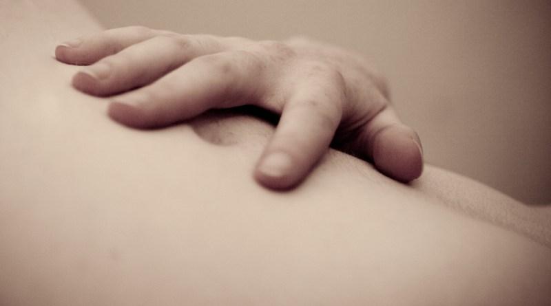 holding tummy