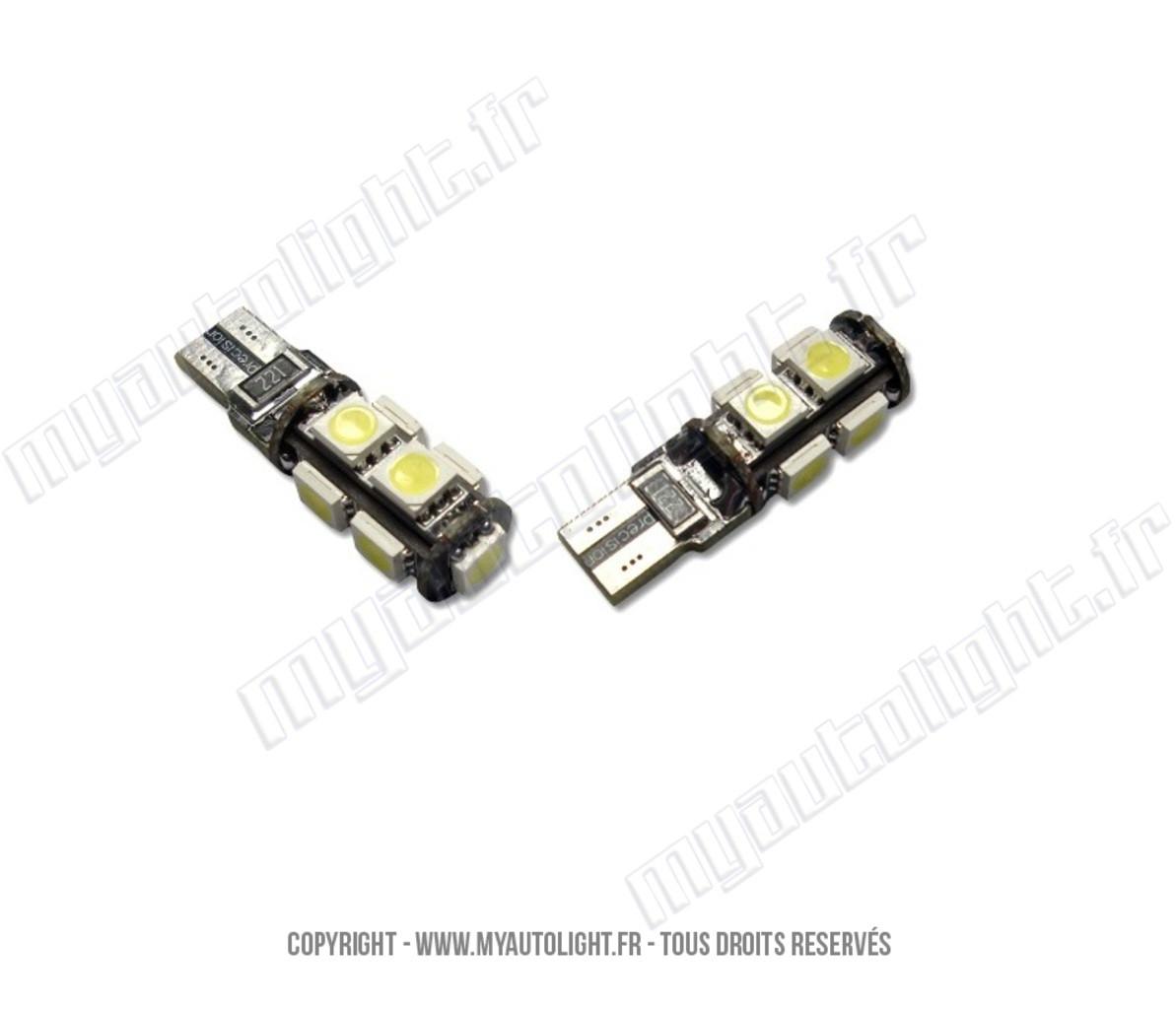 Ampoule Voiture Led 2x Ampoule Led Voiture H1 Smd Auto
