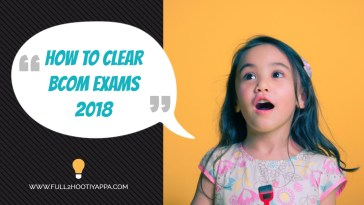 how to clear b.com exams 2018