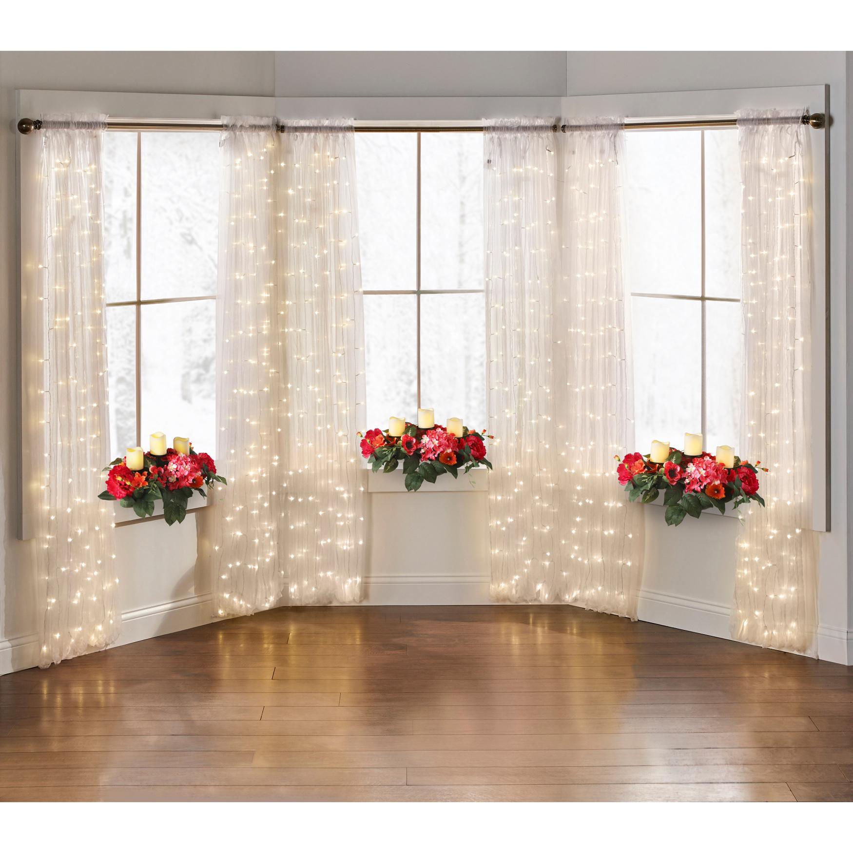 84 pre lit rod pocket curtain panel