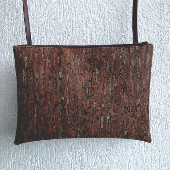 pochette cuir vegetal marron