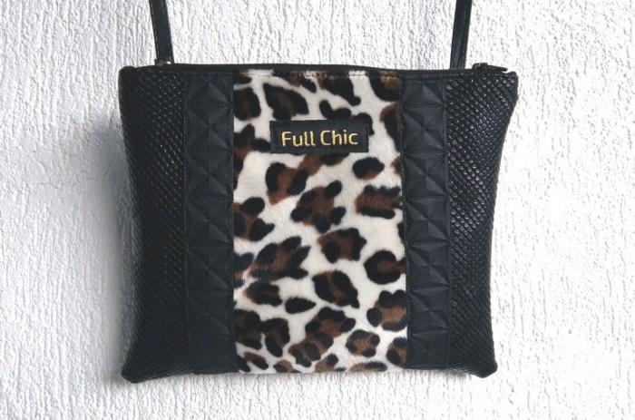 pochette leopard noir