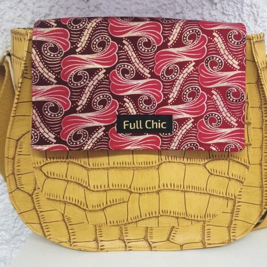 sac turtle ocre wax fuchsia