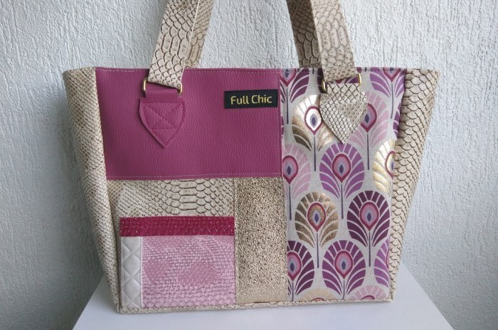 sac patch rose paon