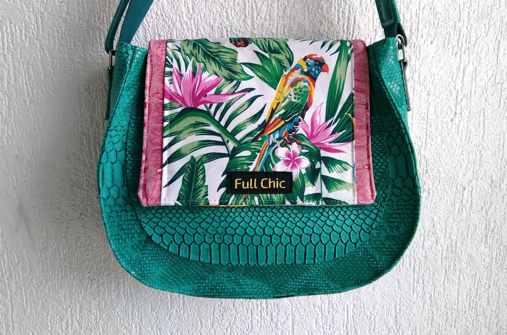 sac besace emeraude tropical