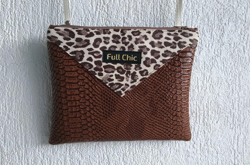 pochette marron leopard