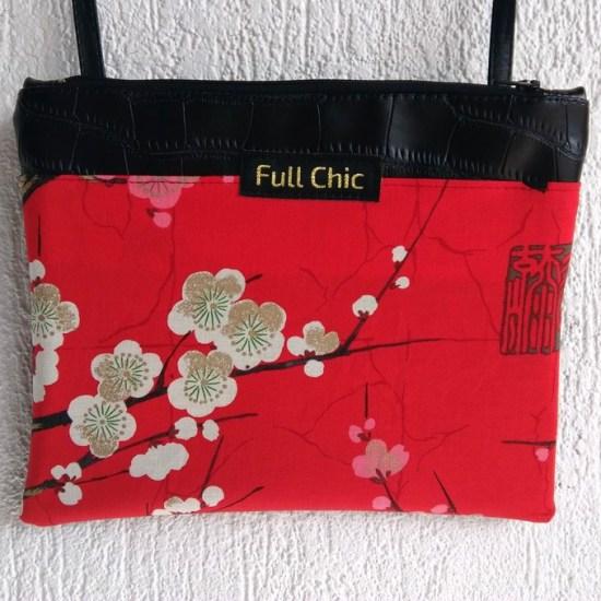 pochette rouge cerisier