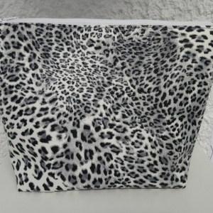 trousse m leopard gris blanc