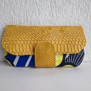 portefeuille s jaune wax