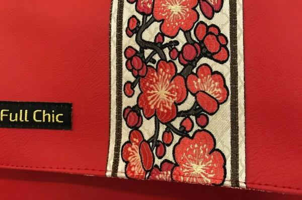 mini besace rouge galon cerisier zoom