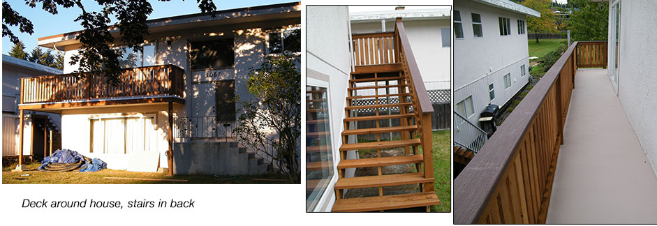 Wrap around Deck and stairs