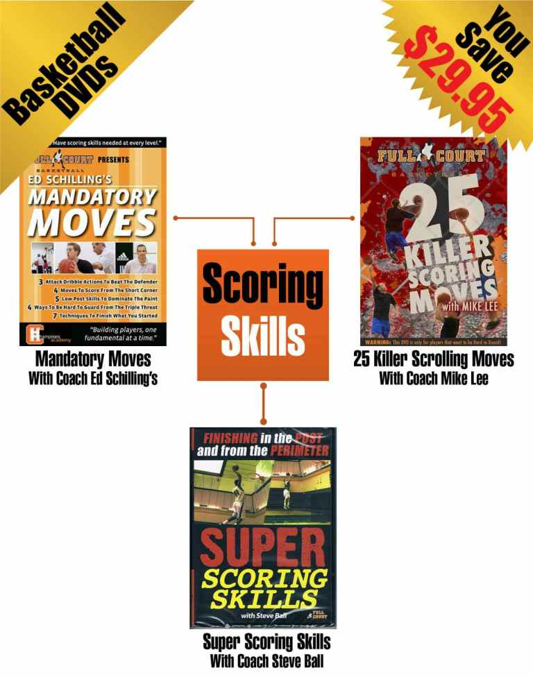 Scoring Skills - 3 Pack By Ed Schilling's Mike Lee & Steve Ball Basketball DVD