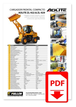 Catálogo Cargador Frontal Aolite ZL-929