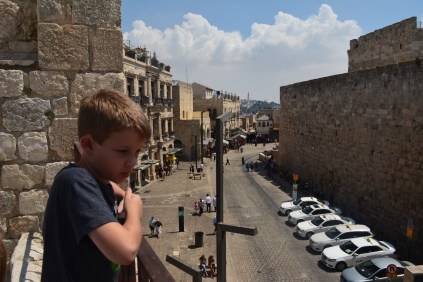 Above Jaffa Gate in the Old City.
