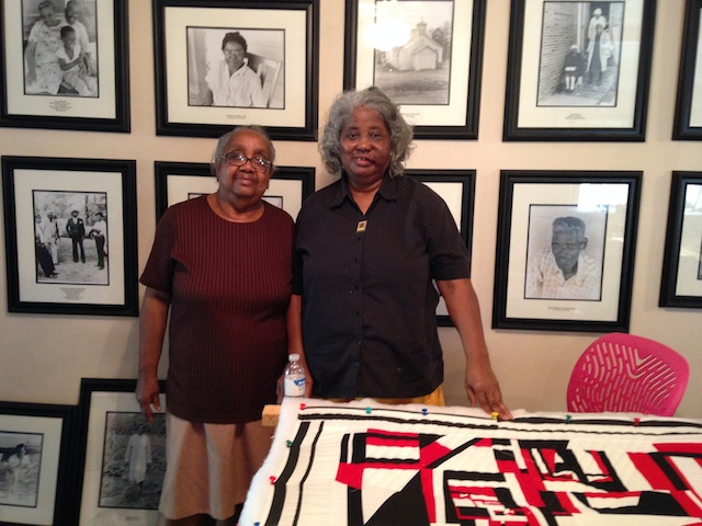 Nancy and Mary Ann at the Gee's Bend Collective