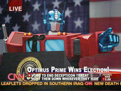 optimus prime for president!