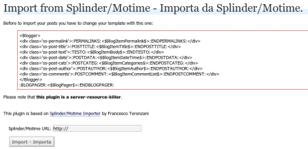 splinder to wordpress importer