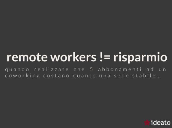 remote working non è economico
