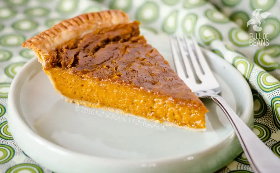 Vegan Pumpkin Pie serving