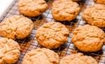 Vegan Peanut Butter Cookies Fresh from the Oven