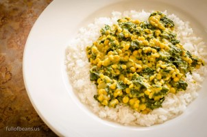 Vegan Dal with spinach - Full of Beans