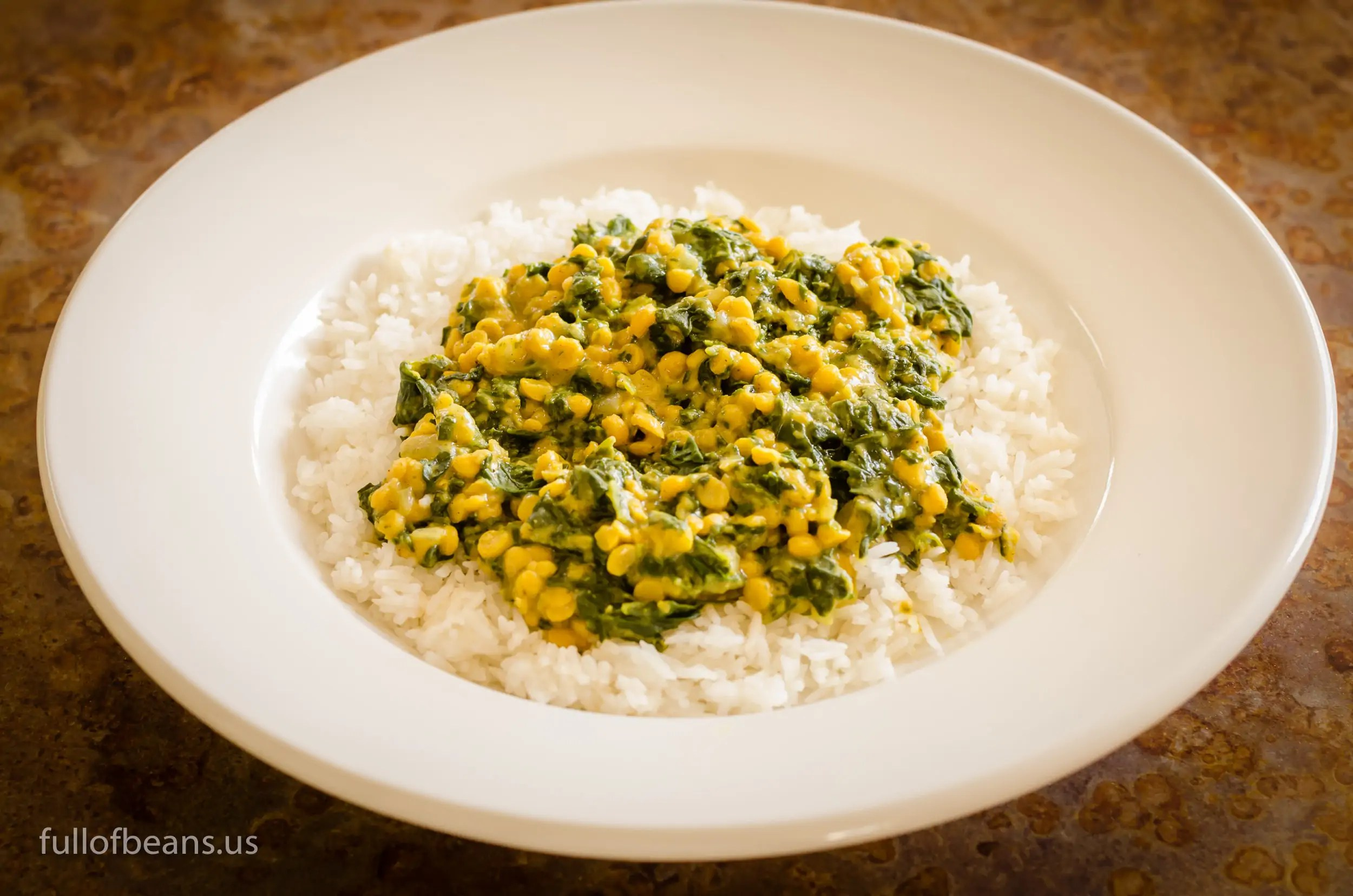 Vegan Indian Dal – Wider Shot