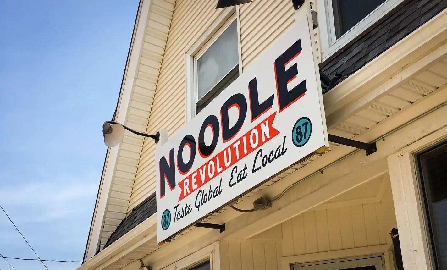 Noodle Revolution Exterior Sign