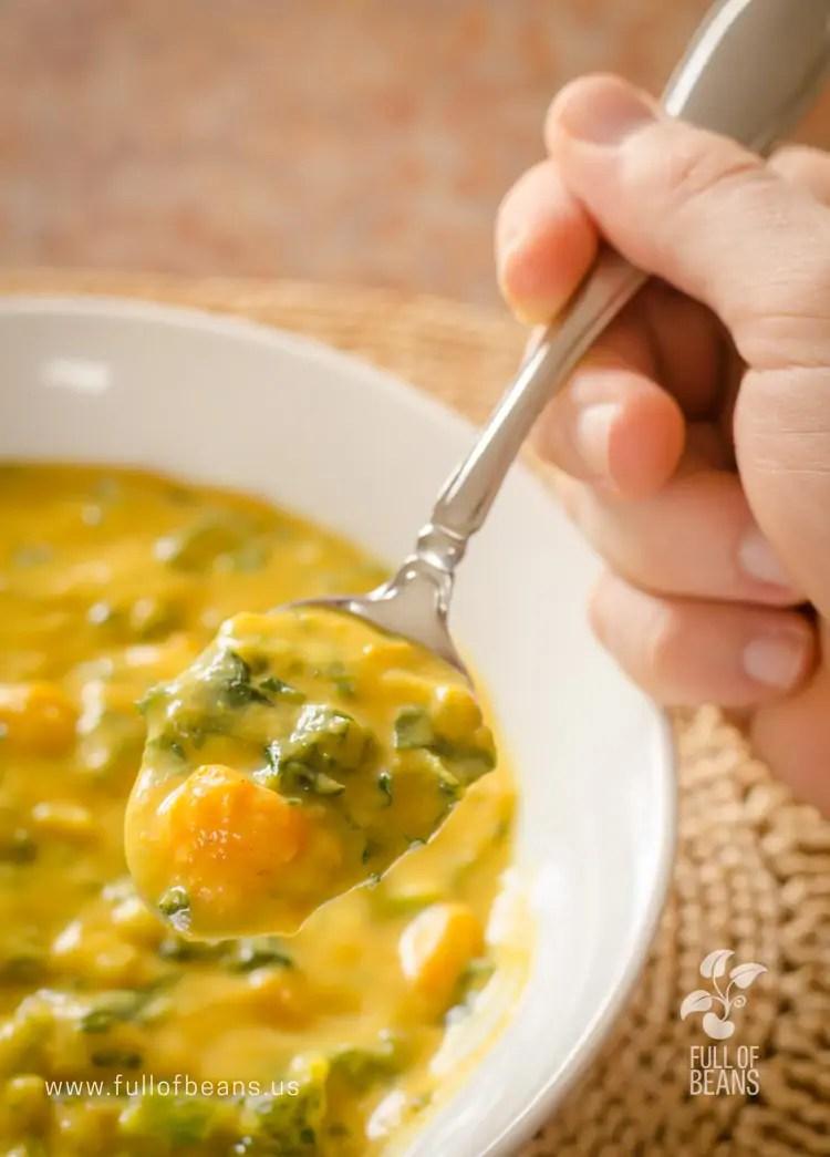 Big spoonful of vegan Corn Chowder