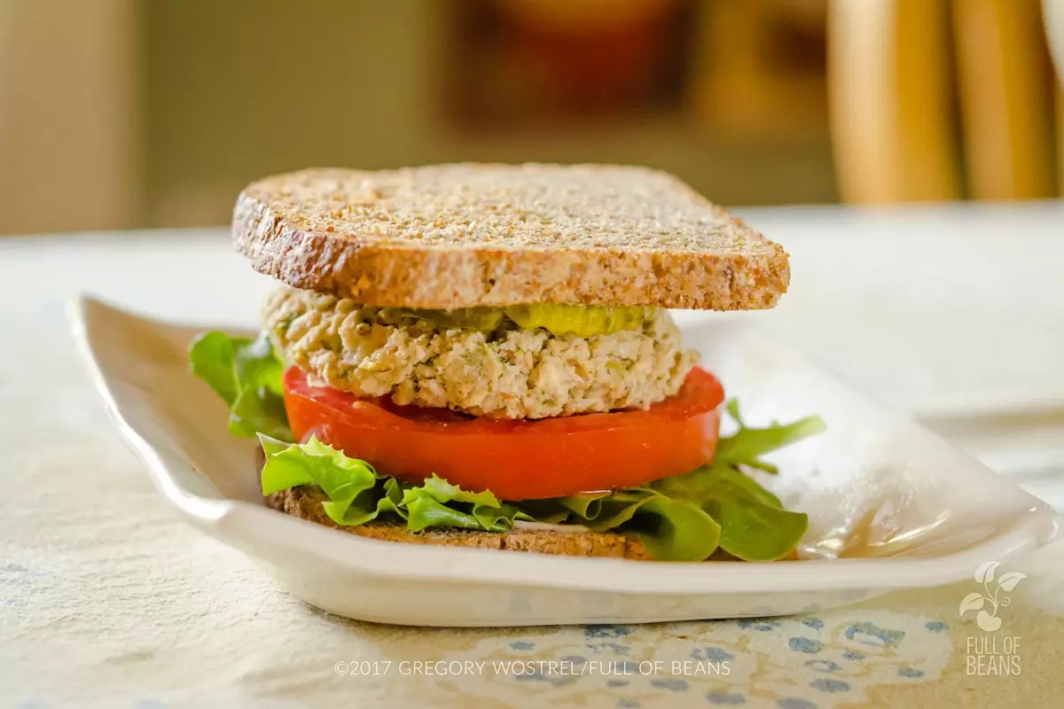 White Bean Veggie Burgers - Stack