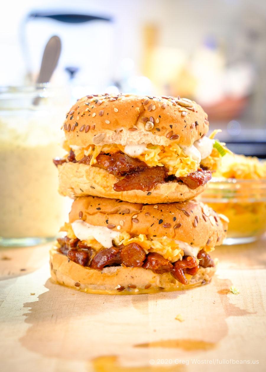 Vegan BBQ Seitan Sandwiches