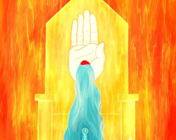 Daniel 7:9-10 + Revelation 22:1