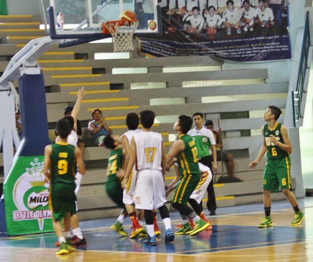 Secondary basketball: Visayas vs Luzon. Visayas won the title, 55-53.