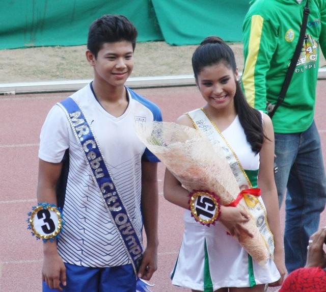 Mr. & Ms. Cebu City Olympics 2014 John Glen Oliamot and Audrey Esmas.