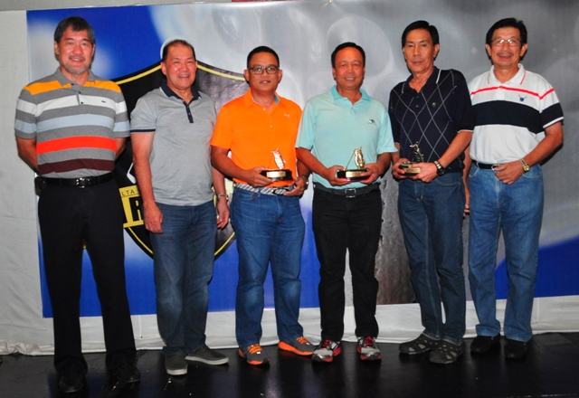 The class C winners were (from left) 2nd runner-up Nimrod Quiñones, champion Jun Tolentino, and 1st runner-up Al Alcibar represented by Ed Sy.