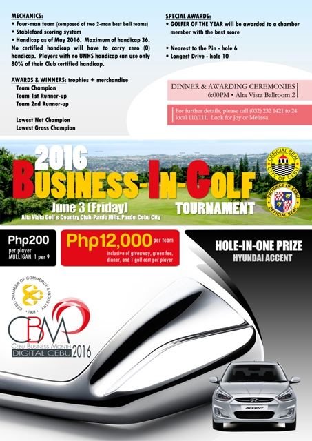 2016 Business in Golf poster