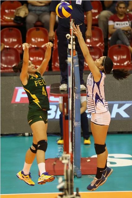 Lady Eagles stun Tams, near V-L finals