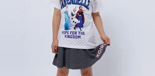 エックスガール ステージ (X-girl Stages) × アナと雪の女王のコラボTシャツ、予約受付がスタート!